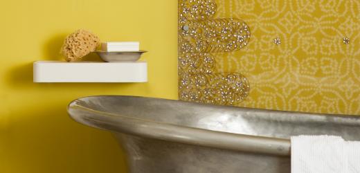gult badrum marockanskt